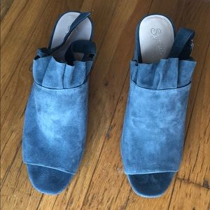 SEYCHELLES blue suede shoes